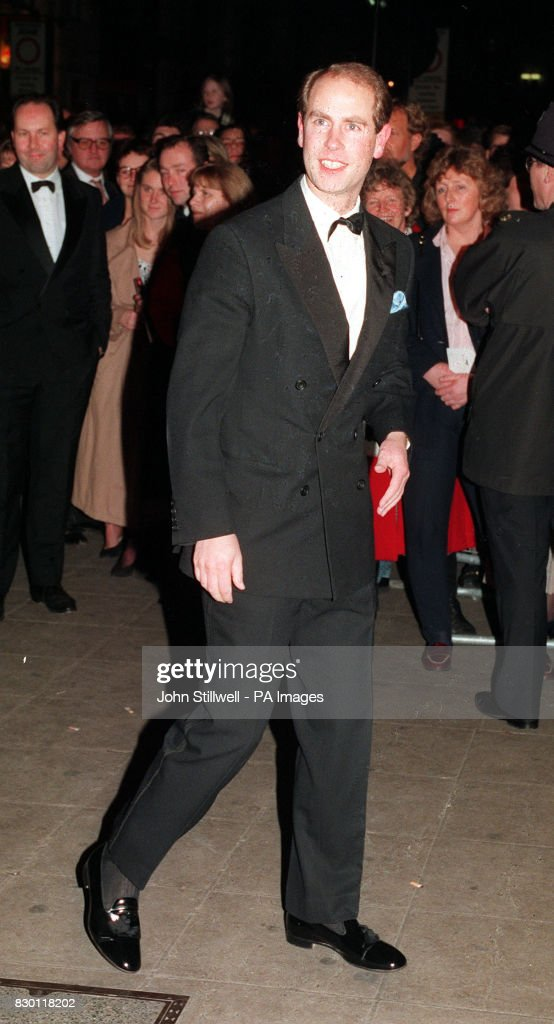 PA NEWS PHOTO 24/11/94 PRINCE EDWARD ARRIVES AT THE LONDON PALLADIUM FOR A CHARITY PREVIEW OF THE NEW PRODUCTION OF LIONEL BART'S MUSICAL 'OLIVER!'
