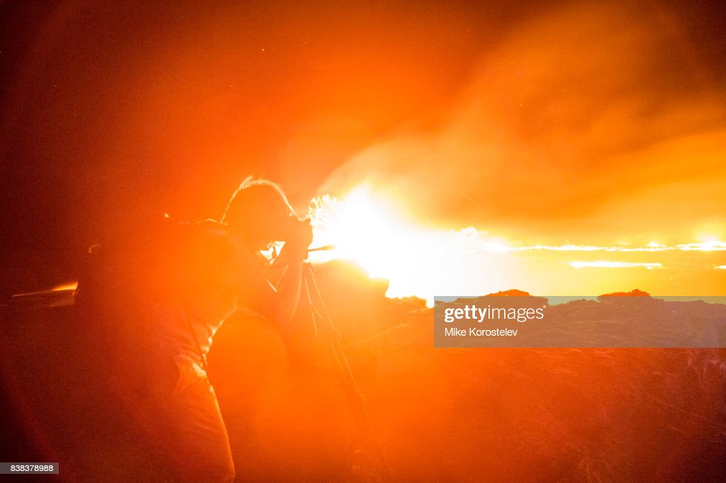 ERTA ALE ACTIVE VOLCANO WITH LAVA LAKE : Stock Photo