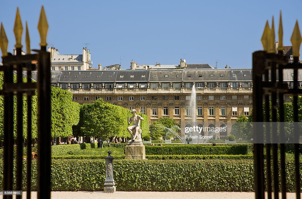 PALAIS ROYAL GARDENS,  PARIS, FRANCE : Stock Photo