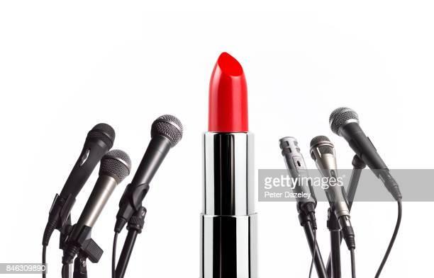 conference girl power - マイクスタンド ストックフォトと画像