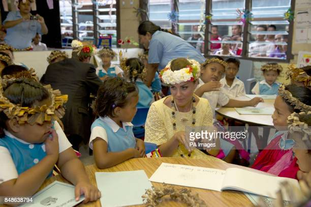 KATE AND WILLIAM VISIT NAUTI PRIMARY SCHOOL TUVALU PIC ARTHUR EDWARDS: