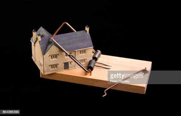 MOUSETRAP WITH A HOUSE TRAPPED INSIDE
