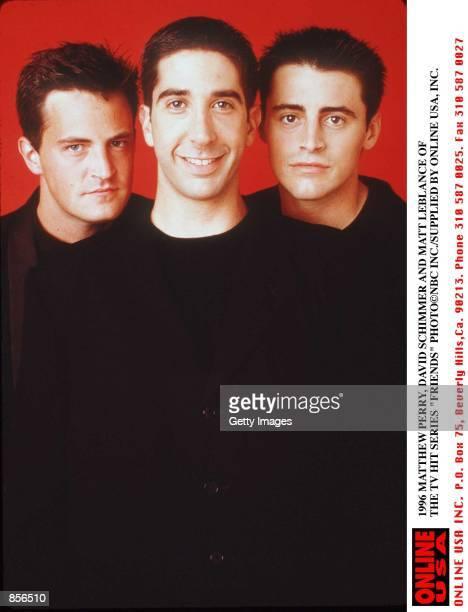 1996 MATTHEW PERRY DAVID SCHWIMMER AND MATT LEBLANC OF THE TV HIT SERIES 'FRIENDS'