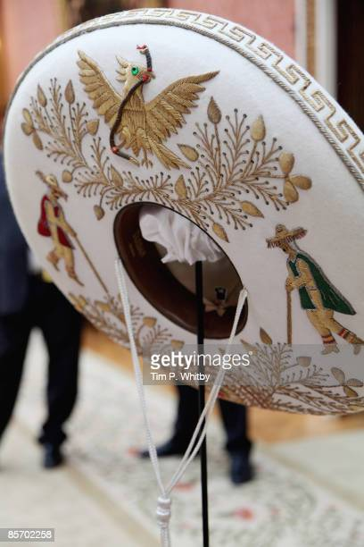 An exhibition of Mexican items from The Royal Collection in the Picture Gallery at Buckingham Palace on March 30 2009 in London England The President...