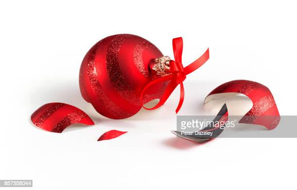 BROKEN CHRISTMAS BAUBLE