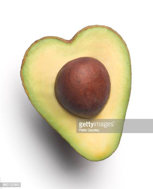 heart shaped avocado - avocado stock pictures, royalty-free photos & images