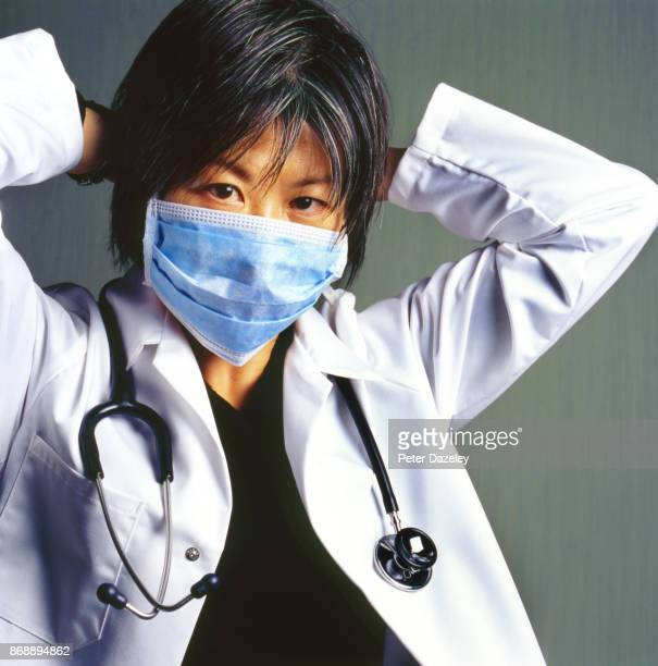 doctor nurse paramedic - chinese mask stock photos and pictures