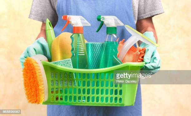 spring cleaning basket - cleaning agent stock pictures, royalty-free photos & images