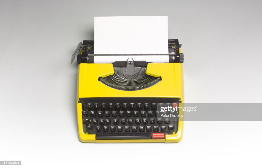 TYPEWRITER WITH COPY SPACE : Stock Photo