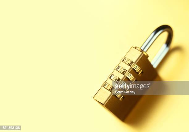 LOCKED COMBINATION PADLOCK WITH COPY SPACE