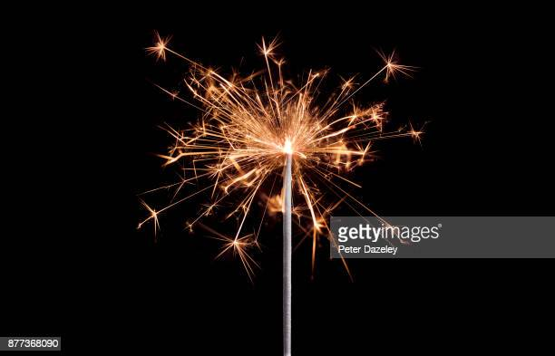 sparkler celebration with copy space - fireworks stock pictures, royalty-free photos & images