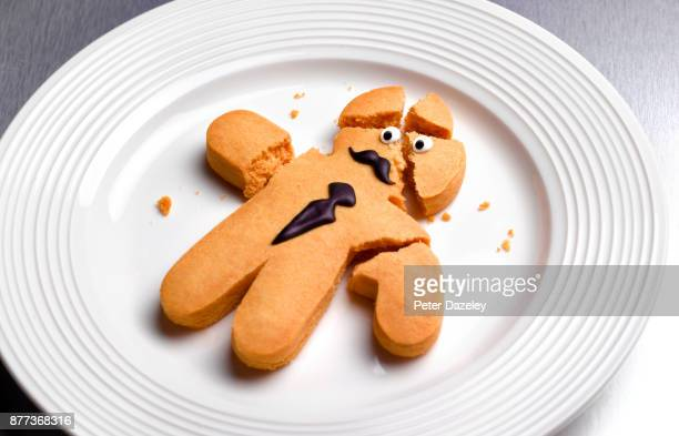 nervous breakdown - gingerbread men stock pictures, royalty-free photos & images