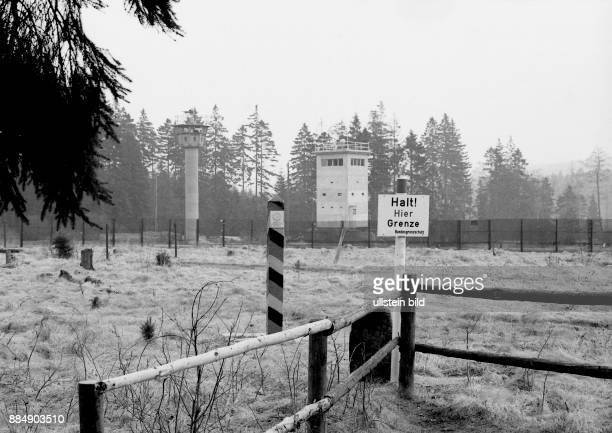 Am Dreiländereck Niedersachsen Sachsen Anhalt und Thüringen im Harz bei Hohegeiß an der B4 in Richtung Rothesütte 'Jägerfleck' 1982