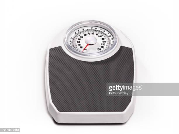 BATHROOM SCALES ON WHITE