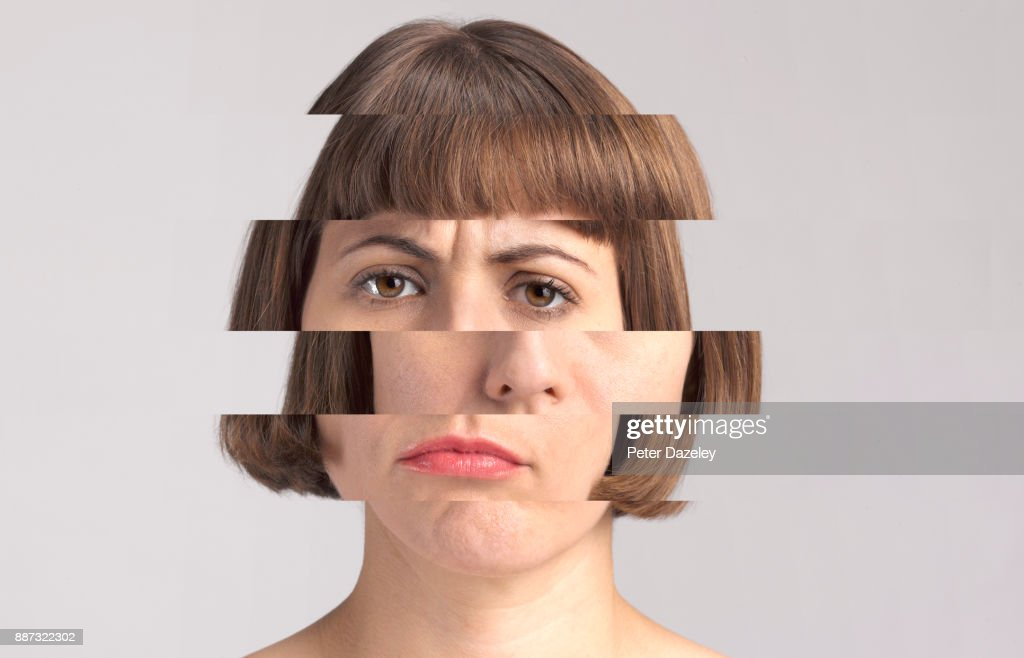 MENTALLY ILL WOMAN : Stock Photo