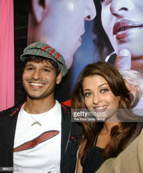 FILM STAR AISHWARYA RAI AND VIVEK OBEROI FOR THE PROMOTION ...