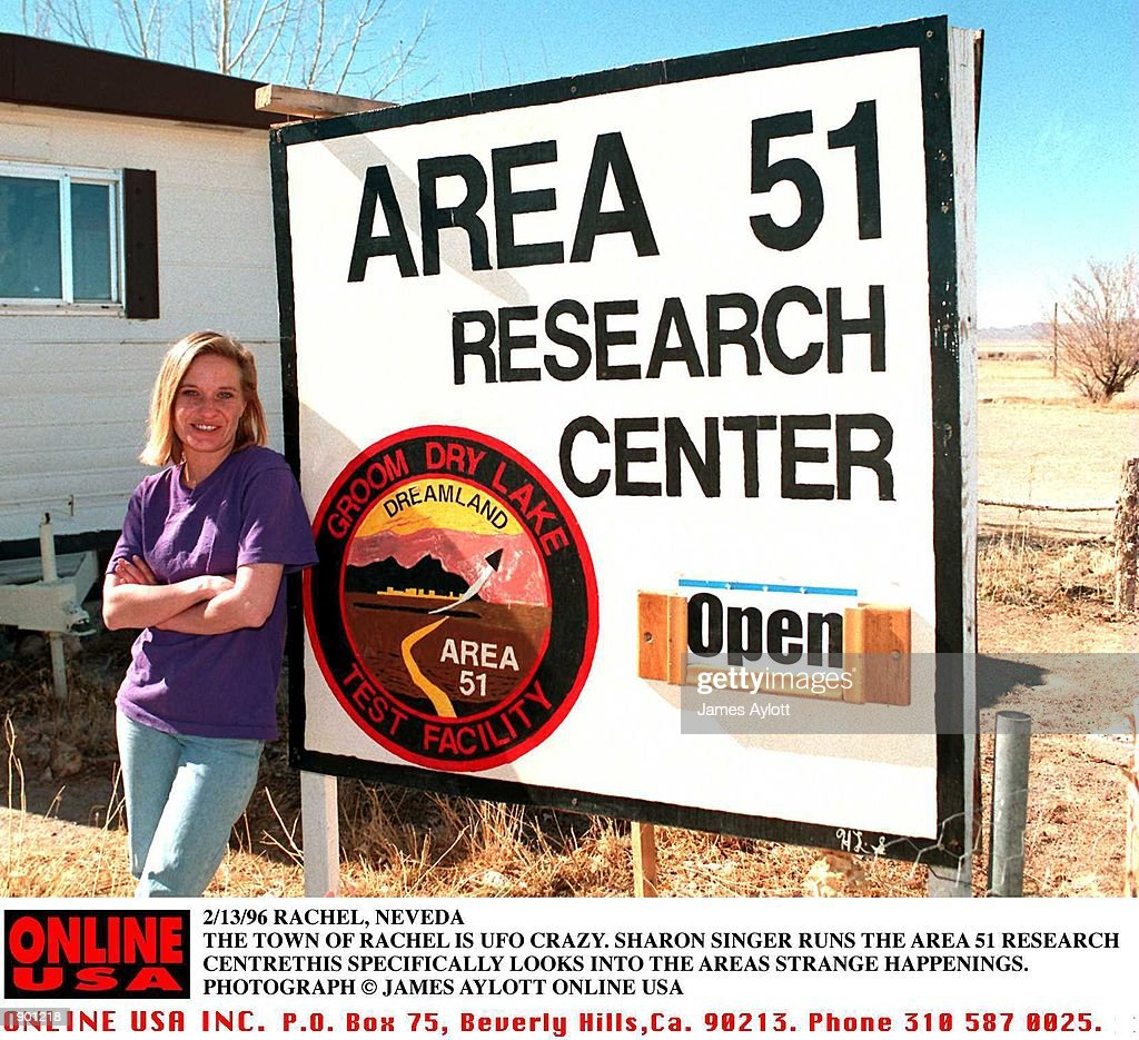 2/13/96 RACHEL, NEVEDA SHARON SINGER RUNS THE AREA 51 RESEARCH CENTRE BASED IN THE TWON OF RACHEL