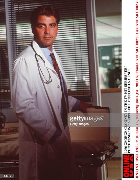 1996 GEORGE CLOONEY IN THE TV HIT SERIES ER