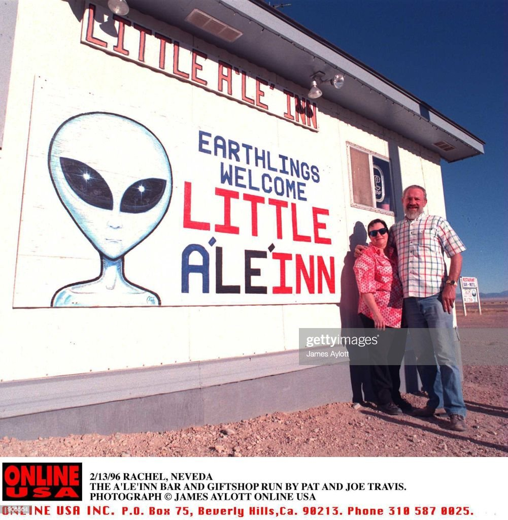 2/13/96 RACHEL, NEVEDA THE A''LE''INN BAR IS THE CENTRE OF LIFE FOR BOTH UFO WATCHERS DRAWN TO AREA 51 AND THE LOCAL RESIDENTS OF RACHEL.