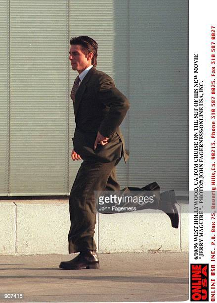 6/10/96 WEST HOLLYWOOD CA TOM CRUISE ON THE SET OF HIS NEW MOVIE JERRY MAGUIRE
