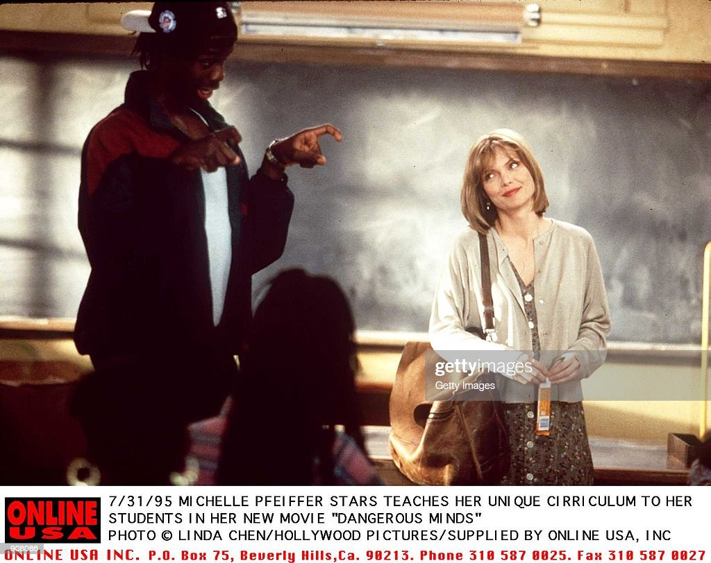 "7/31/95 MICHELLE PFEIFFER STARS AS A TEACHER IN HER NEW MOVIE ""DANGEROUS MINDS"" : News Photo"