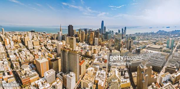 panoramic view of san francisco - western usa stock pictures, royalty-free photos & images