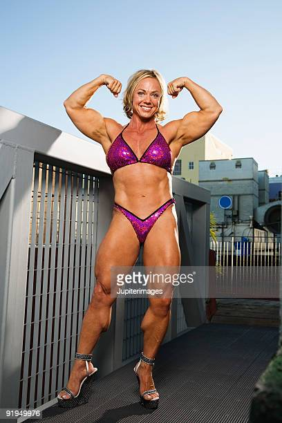 0 - female bodybuilder stock photos and pictures