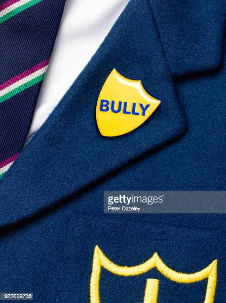 bully's blazer and badge - blazer jacket stock pictures, royalty-free photos & images