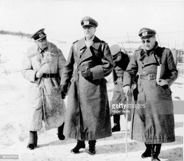 World War II Russian front Friedrich Paulus German General with General Breith on the right during the battle of Stalingrad September 1942 February...