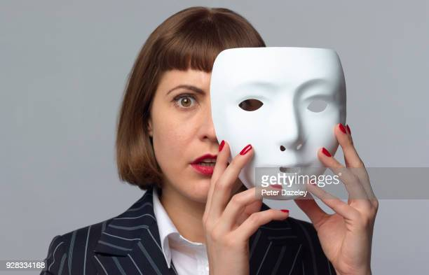 schizophrenia /bipolar/early stage dementia - mask disguise stock pictures, royalty-free photos & images
