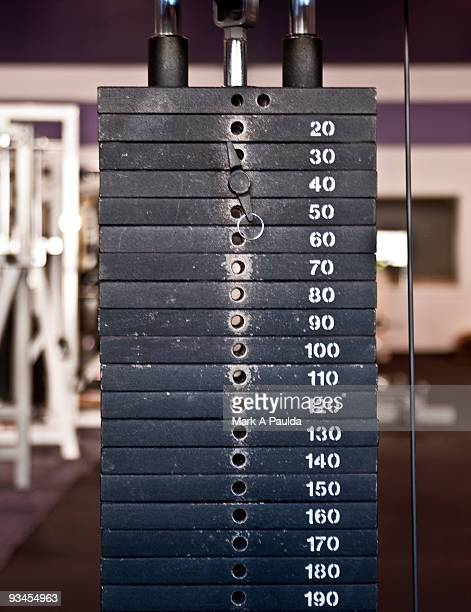 weight machine - weights stock pictures, royalty-free photos & images
