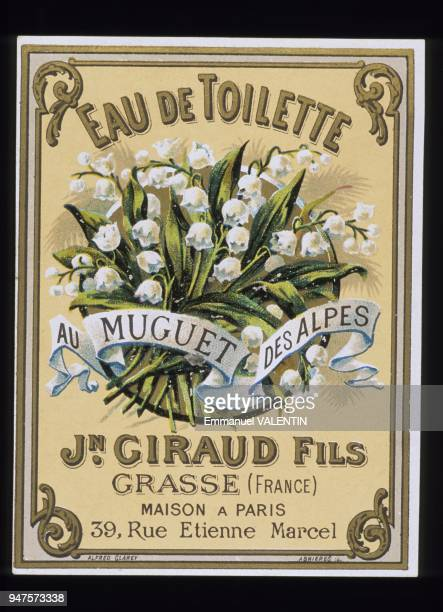 ETIQUETTE DE MUGUET, PARFUMERIE GIRAUD, GRASSE, FRANCE.