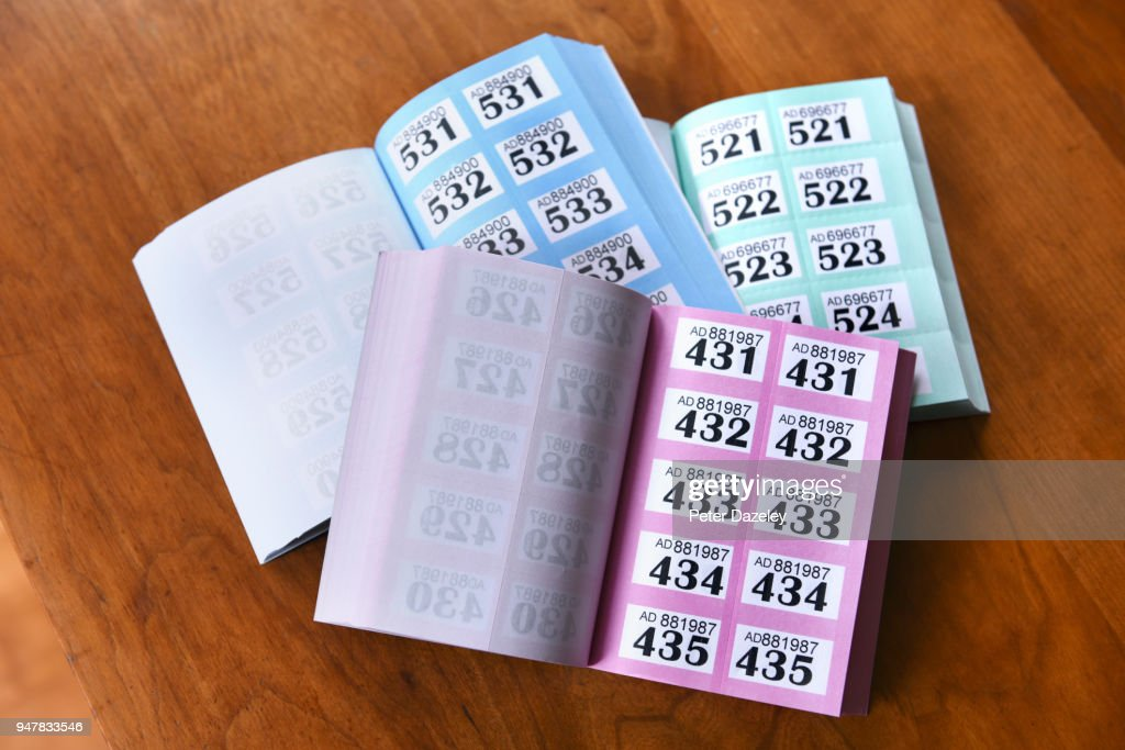 three raffle ticket books stock photo getty images
