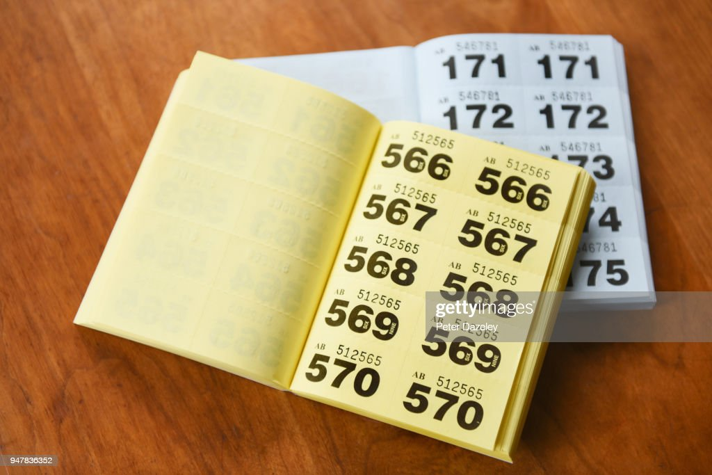 two raffle ticket books stock photo getty images