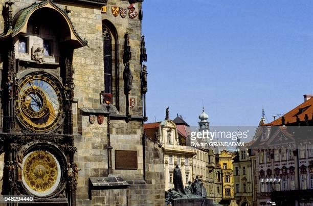 ASTRONOMICAL CLOCK ON LEFT