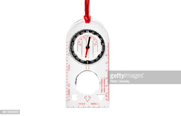 orienteering compass, healthy lifestyle - compass stock pictures, royalty-free photos & images