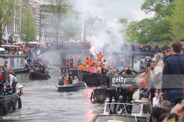 KING'S DAY CELEBRATION IN AMSTERDAM,NETHERLANDS