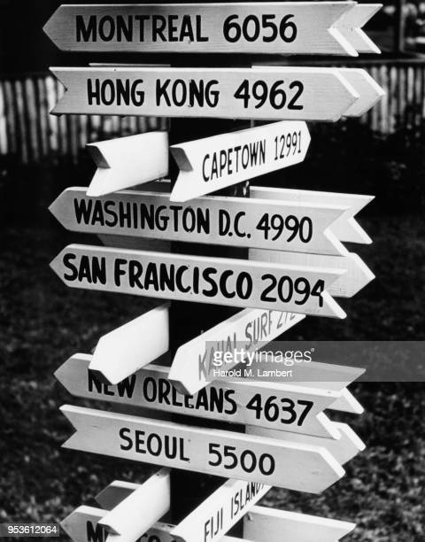 UNITED STATES, HAWAII, CLOSE-UP OF DIRECTIONAL SIGN