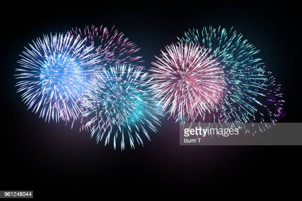 hanabi 7 - fireworks stock pictures, royalty-free photos & images