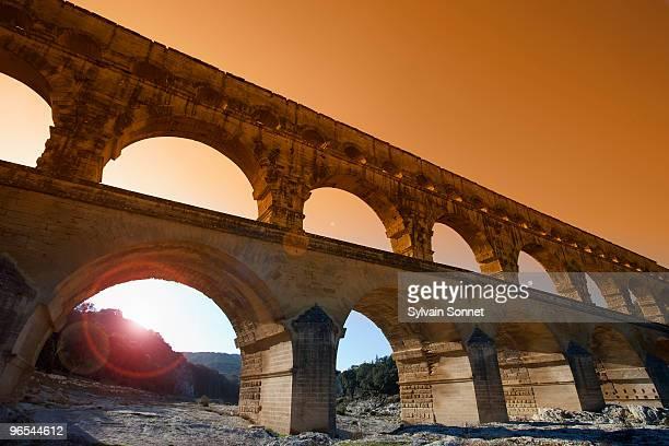 france, pont du gard - ポン・デュ・ガール ストックフォトと画像