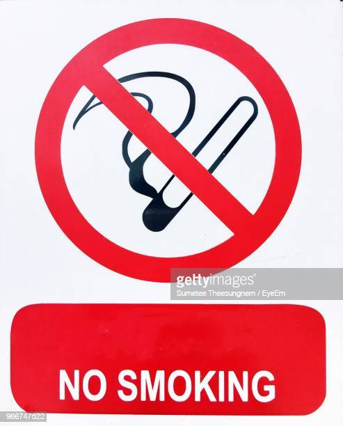 close-up of no smoking sign - no smoking sign stock pictures, royalty-free photos & images