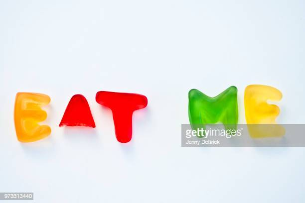 eat me - capital letter stock pictures, royalty-free photos & images