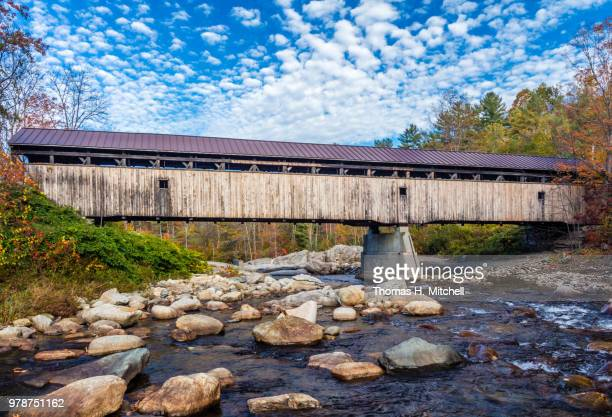nh-bath-swiftwater bridge - brook mitchell stock pictures, royalty-free photos & images