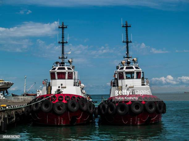 twins - tugboat stock photos and pictures