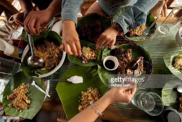 let's eat - daily life in philippines stock pictures, royalty-free photos & images