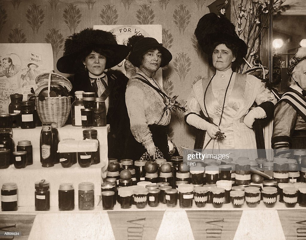 SUFFRAGETTES, : Stock Photo
