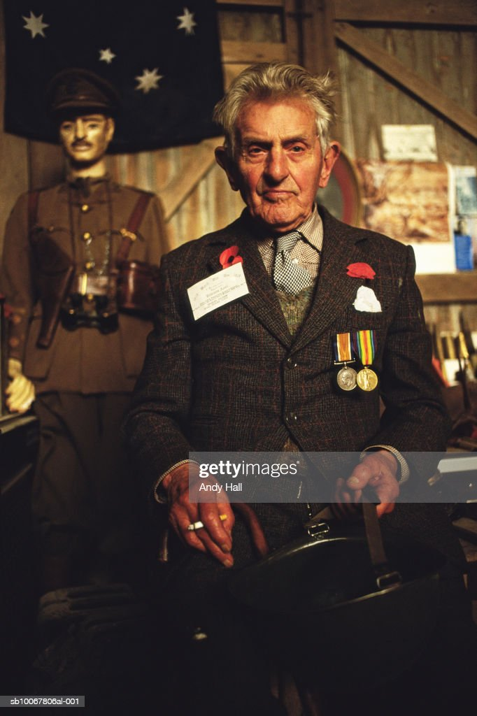 UK, portrait of World War I veteran : News Photo