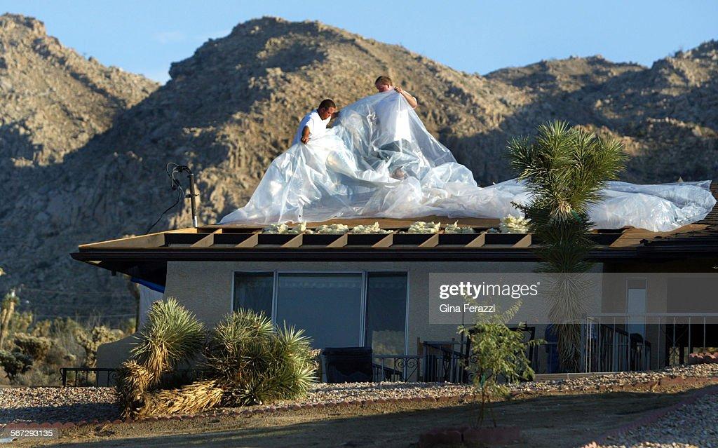 gmfu2013 homewowners put a plastic tarp on