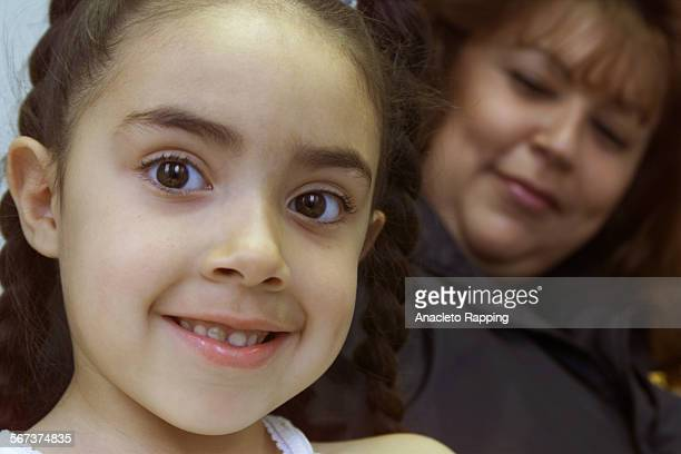 Kidcare1AR Sabrina Aguirre 6 years old and her mother Jennifer Gonzales of Antelope Valley were at Children's Hospital in Los Angeles 3/8/00 to have...