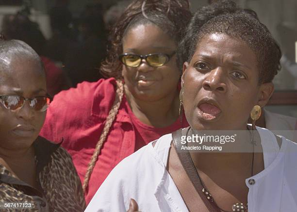 Jails3.AR Activists held a news conference , 5/2/00, outside the Mens Central Jail in downtown Los Angeles over race related violence at the Pitchess...